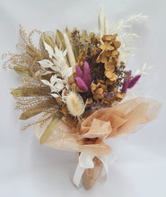 Load image into Gallery viewer, Small Dried Flower Bouquet With Bunny Tails and Hydrangea