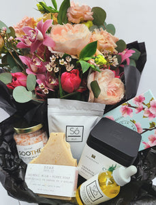 Local Maker's Gift Box: Canadian Gifts and a Fresh Cut Flower Bouquet