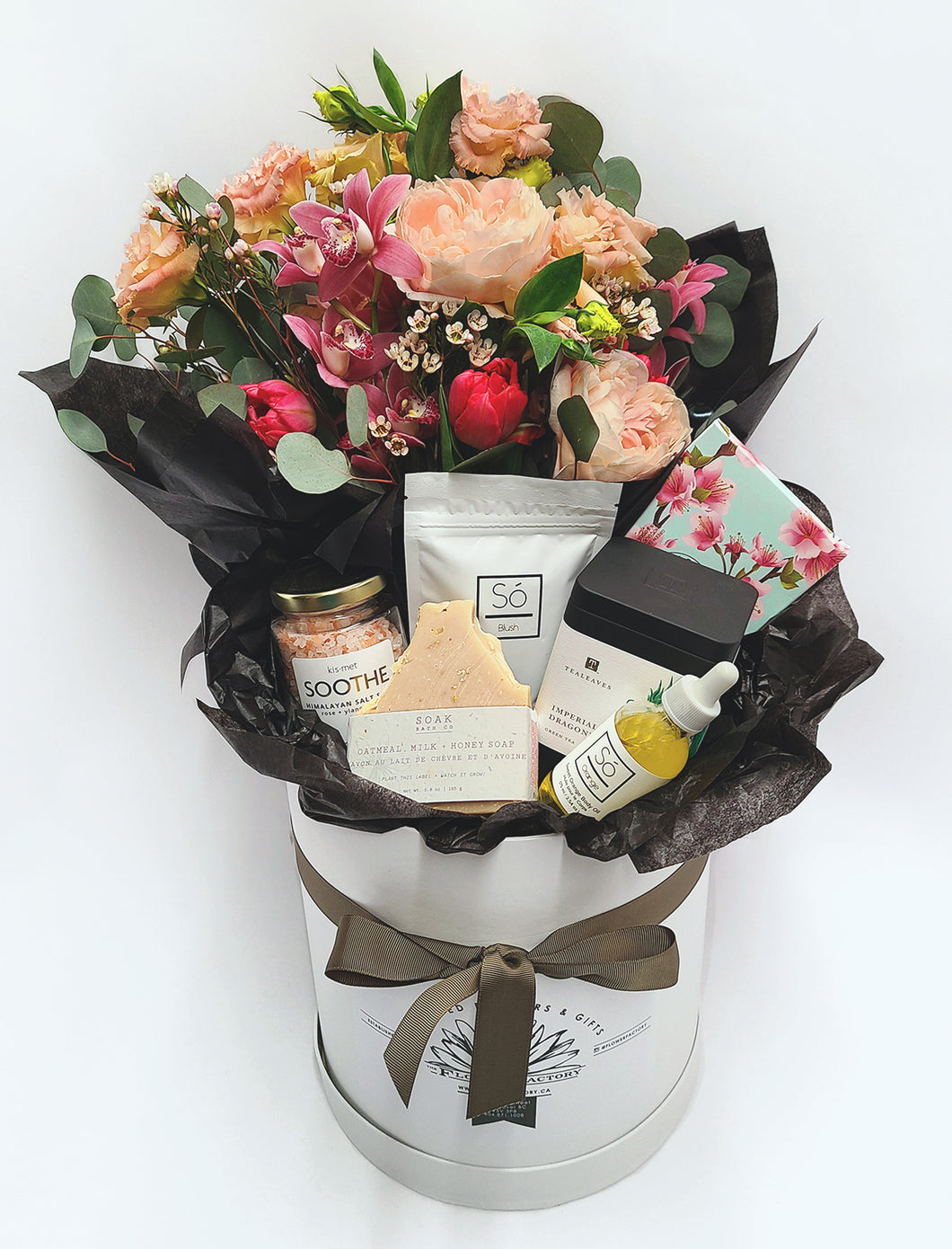 Gift Box of Fresh Flowers and Locally Sourced Gifts