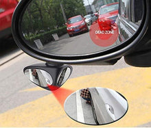 Load image into Gallery viewer, Car left side mirror along with blind spot parking mirror, 2 more cars in mirror, person is sit near car tyre
