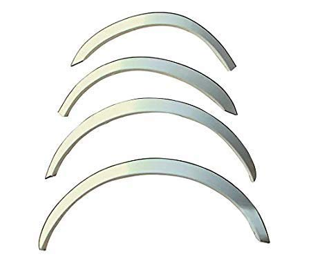 Automaze Stainless Steel Wheel Arch Chrome Fender Lining Trim Moulding For Honda Amaze 2013-2017 Models