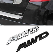 Load image into Gallery viewer, Installed 3d AWD Logo on car