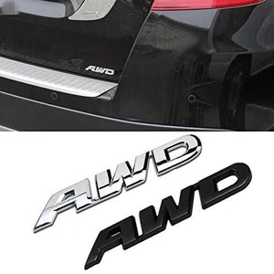 Installed 3d AWD Logo on car