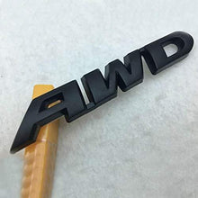 Load image into Gallery viewer, 3D AWD Logo in black colour for all car