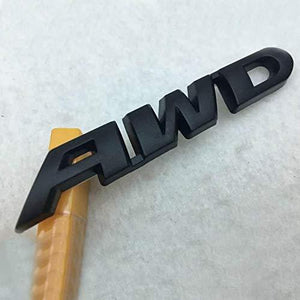 3D AWD Logo in black colour for all car