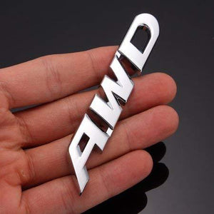 3D AWD Logo in Chrome colour for all car