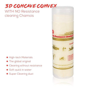 3 D Concave Convex with no resistance cleaning chamois