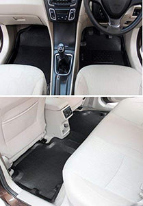 Automaze Laminated Odourless Premium 4D Car Floor Mats Perfect Fit-Mahindra XUV500