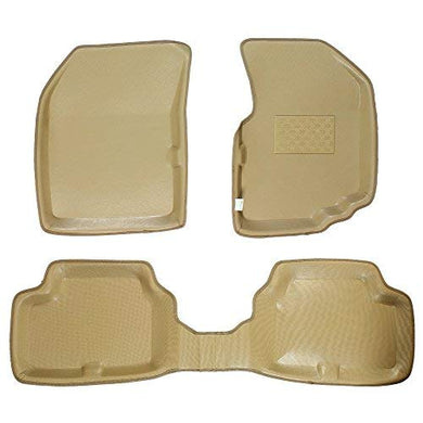 Automaze Laminated Odourless Premium 4D Car Floor Mats Perfect Fit-Toyata Etios Liva