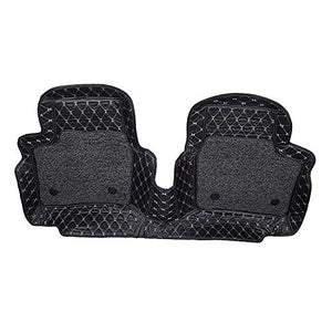 Automaze 7D Mats for Maruti Suzuki XL6, Custom Fitted Leatherette Luxury Car Mats with Removable Grass-Black Colour