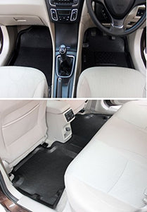 Automaze Laminated Odourless Premium 4D Car Floor Mats Perfect Fit-Hyundai Santro Xing