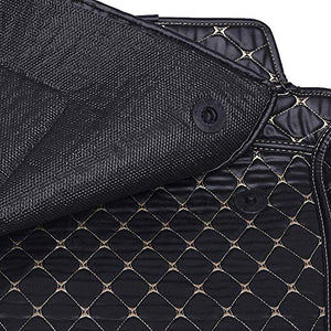 Automaze 7D Mats for Tata Tigor All Models, Custom Fitted Leatherette Luxury Car Mats with Removable Grass-Black Colour