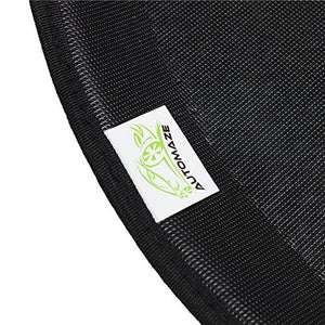 Automaze 3D/4D Car Floor/Foot Mats with Third Row for Mistubishi Pajero Sports | Tray Fit, Black Colour | Warranty