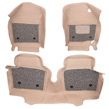 Load image into Gallery viewer, Pair of 7D mats for honda city in beige colour