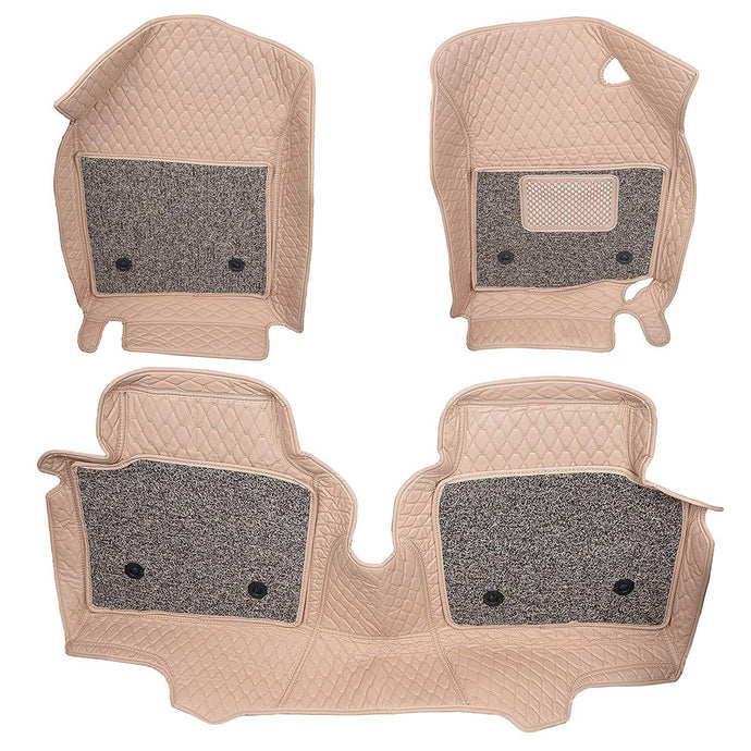 Pair of 7D mats for maruti suzuki wagon r in beige colour
