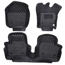 Load image into Gallery viewer, Set of 3 pcs of 7d mats for hyundai santro in black colour