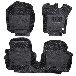 Set of 3 pcs of 7d mats for maruti suzuki brezza in black colour