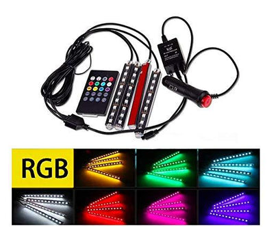 Full detail of Interior RGB LED Strip Atmosphere Lamp