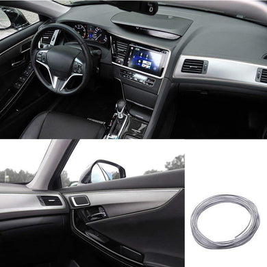 car dashboard in silver colour