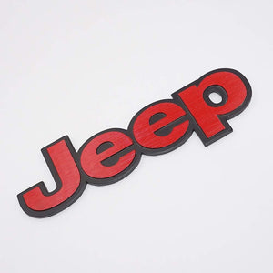 Jeep car logo in red colour