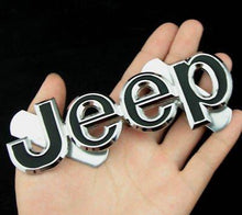 Load image into Gallery viewer, Jeep logo for car in black colour