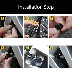 Installation step for tyre valve cap