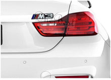 Load image into Gallery viewer, Installed M3 Sticker 3D Logo in Black Colour for Bmw Car