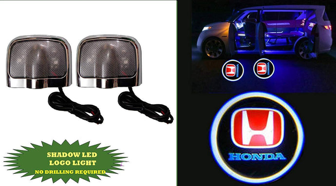 Honda Logo in Car Door Light along with Shadow Led Logo Light NO Drill Required