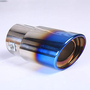 Steel pipe shiny bright and cool blue colour