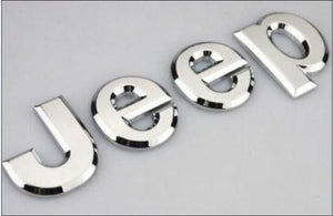 Trunk Bonnet Emblem Logo for jeep in Silver