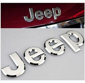 Installed Jeep Trunk Emblem Hood For Car in Chrome Colour