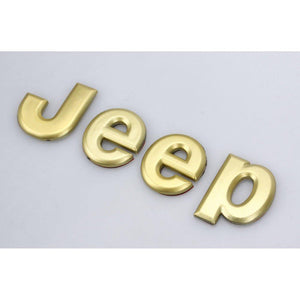 Jeep Trunk Emblem Hood For Car in Gold Colour
