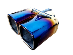 Blue shining on stainless steel Muffler