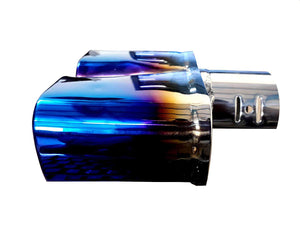Steel design in twin Exhaust Double tail muffler