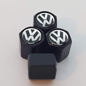 VolkswagenTyre valve cap with keychain in black Colour for all Car