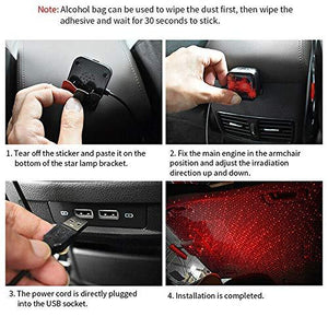 How to install star ambient star light in car