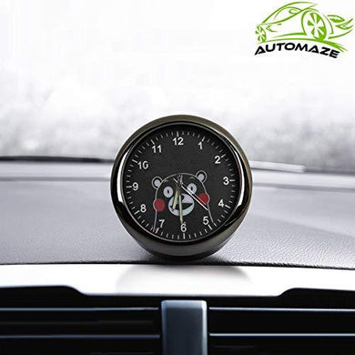 Kumamom Model car dashboard analog quatrz clock