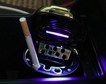 Load image into Gallery viewer, Car Ash Tray with Blue LED Light & Cigarette