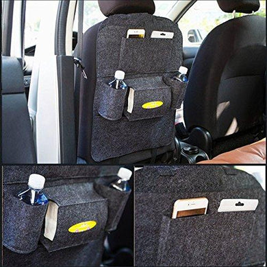 Open Car backseat  organiser in black colour