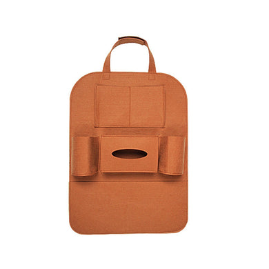 Car Back Seat organiser in brown colour