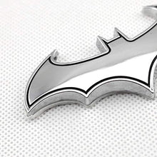 Load image into Gallery viewer, batman logo in chrome colour with black outline