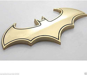 batman logo in gold colour