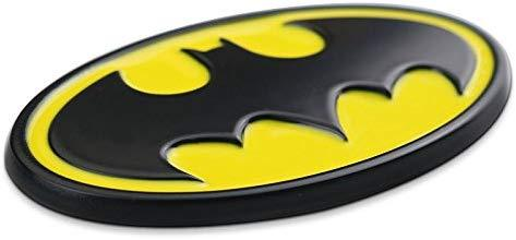 batman logo in yellow & Balck Colour