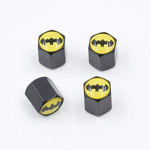 black batman logo valve cap 4 pcs