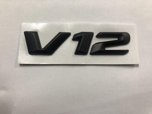 Black V12 Symbol logo for all car