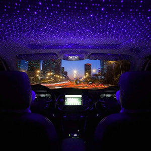 Car Roof interior light in blue color
