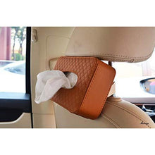 Load image into Gallery viewer, Brown Tissue box holder install on car seat back side