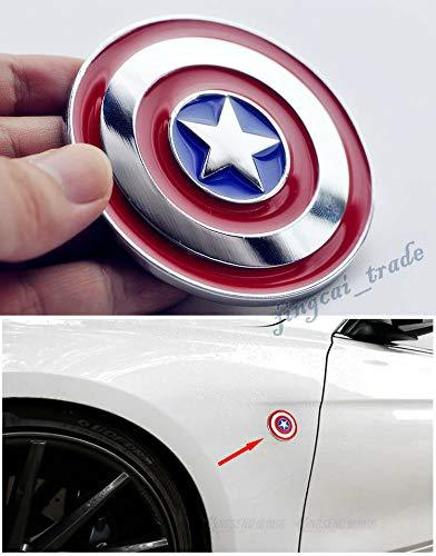 Captain america sheild logo installed on car