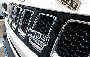 Installed Jeep 1941 Logo Stickers For Car