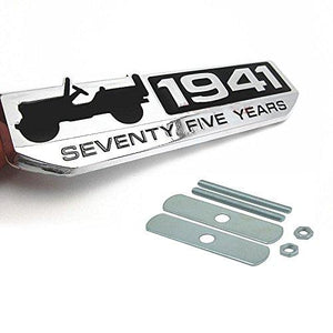Jeep 1941 Logo Stickers For Car in silver colour